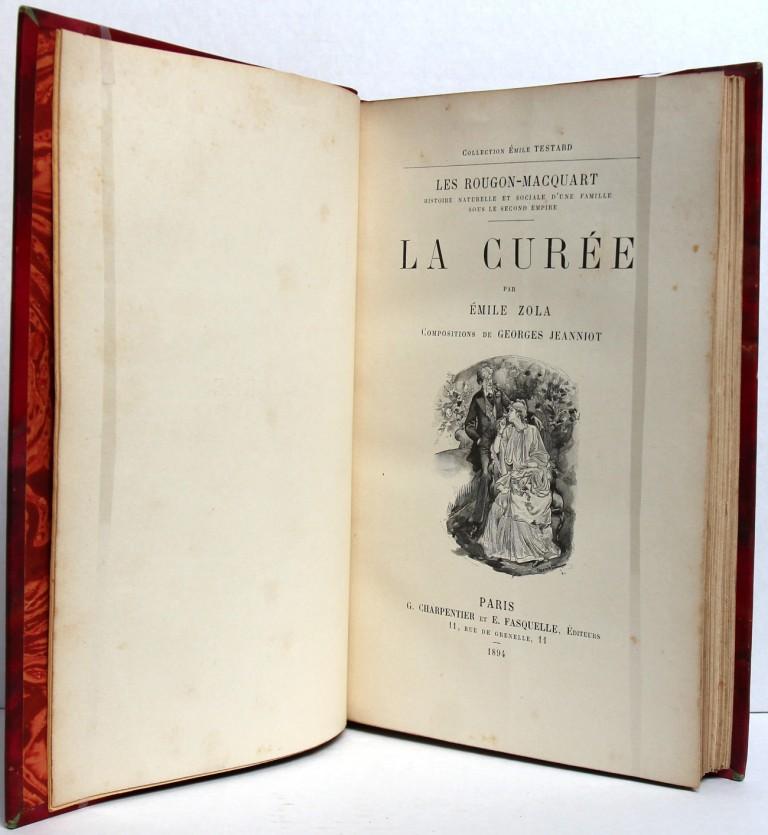 La Curée. Émile Zola. Page titre.  Livre ancien. 1894.