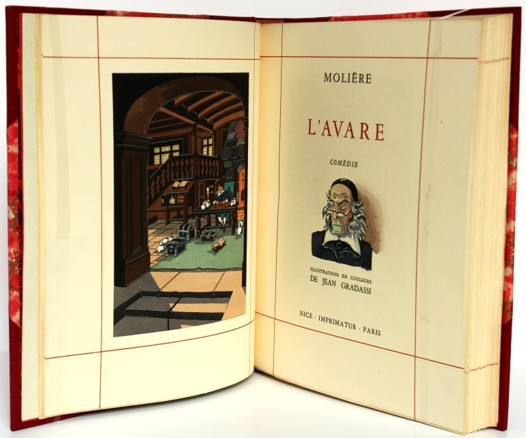 Molière. L'Avare, Les Précieuses ridicules. Page titre. Livre ancien. 1955.