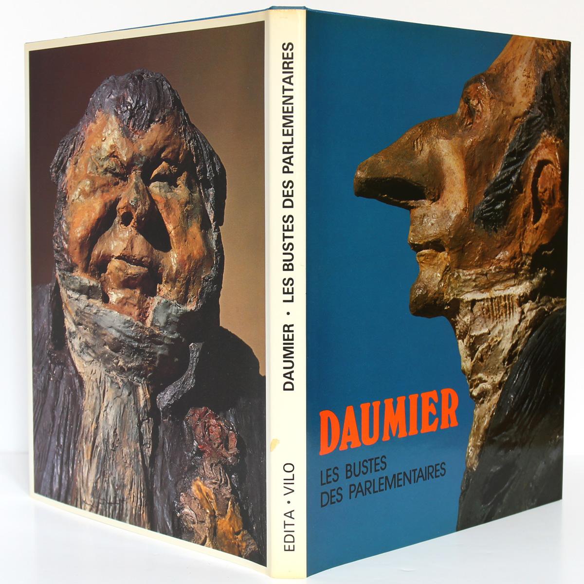 Daumier Les bustes des parlementaires. Edita-Vilo 1980. Couvertures.