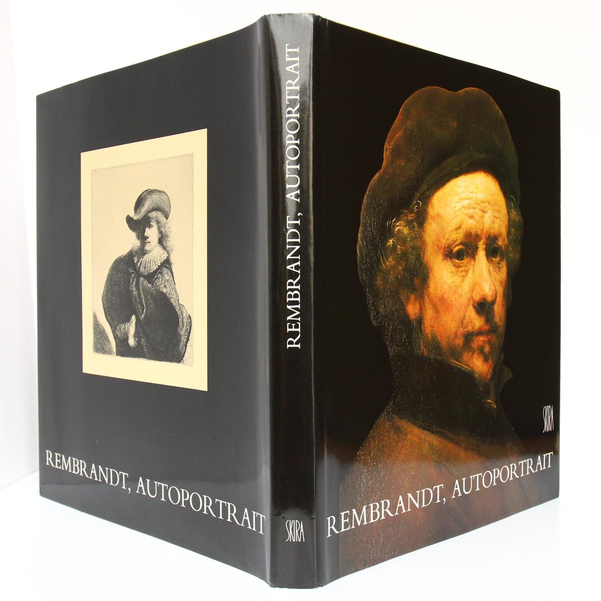 Rembrandt, autoportrait. Pascal Bonafoux. Skira 1985. Couvertures.