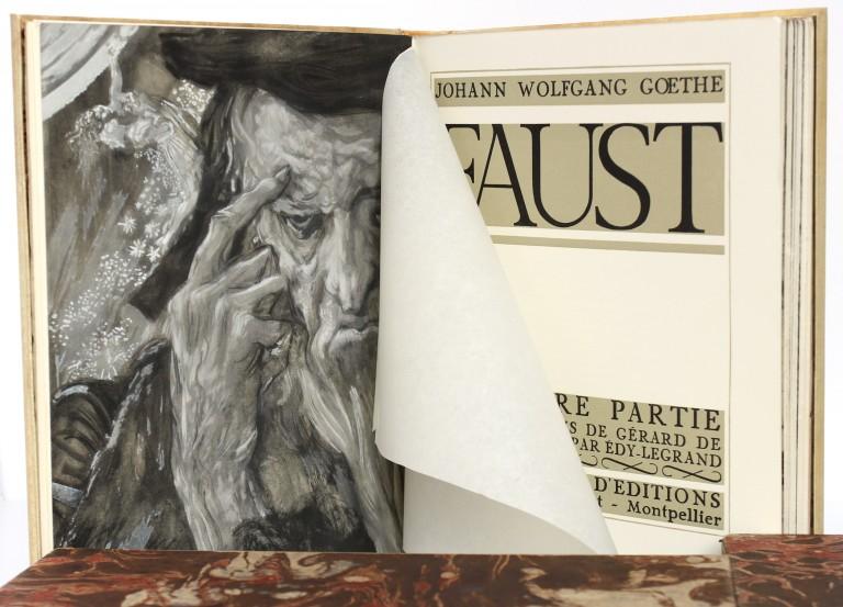 Faust. Goethe. Illustré par Edy Legrand 1942. 2 volumes. Pages intérieures.