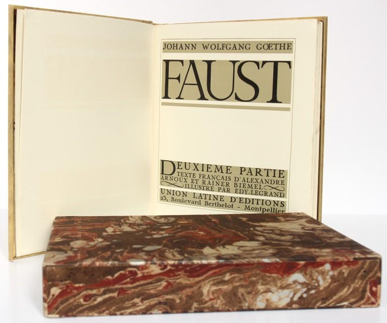 Faust. Goethe. Illustré par Edy Legrand 1942. 2 volumes. Pages intérieures 2.