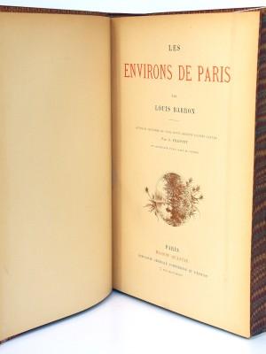 Les Environs de Paris. Louis Barron. Illustrations de Fraipont. Fin 19e siècle. Page Titre.