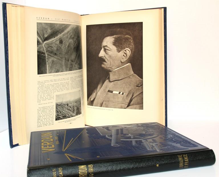 Verdun. Jacques Péricard. 2 volumes. Cartonnages éditeur. Pages intérieures.