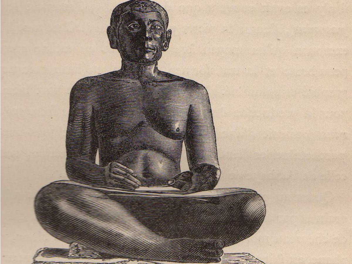 Scribe assis. Nécropole de Memphis. Aux origines du livre. 20160206_1