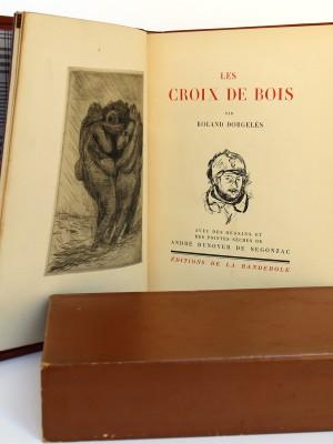 Dorgelès. Les Croix de Bois. Dessins et pointes sèches de Dunoyer de Ségonzac. Éditions de la Banderole 1921. Page titre.