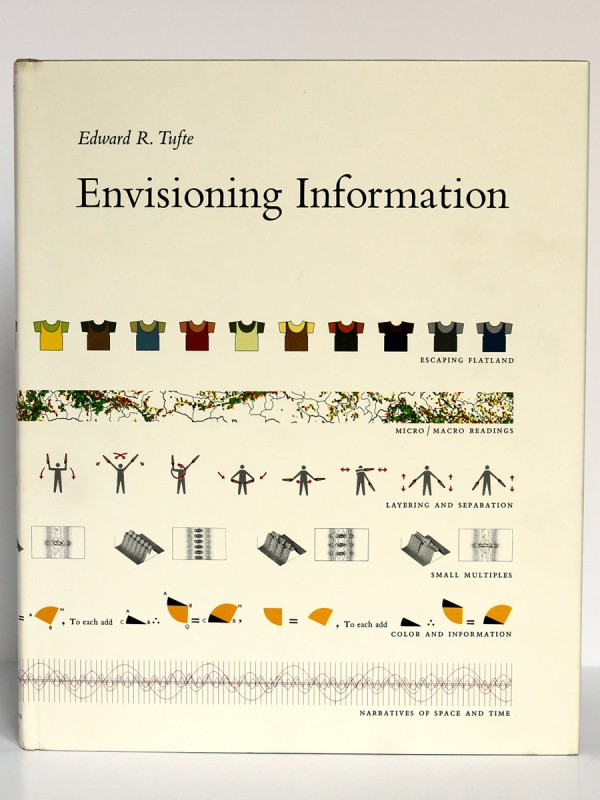 Envisioning Information. Tufte. Graphics Press 1992. Couverture.