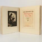 Œuvres de Françoys Villon. Illustrées par André Collot. Le Vasseur, 1942. Frontispice et page titre.