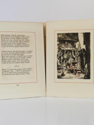 Œuvres de Françoys Villon. Illustrées par André Collot. Le Vasseur, 1942. Pages intérieures_1.