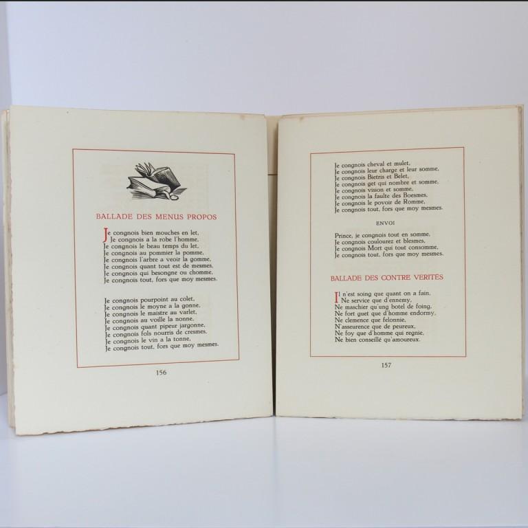 Œuvres de Françoys Villon. Illustrées par André Collot. Le Vasseur, 1942. Pages intérieures_2.