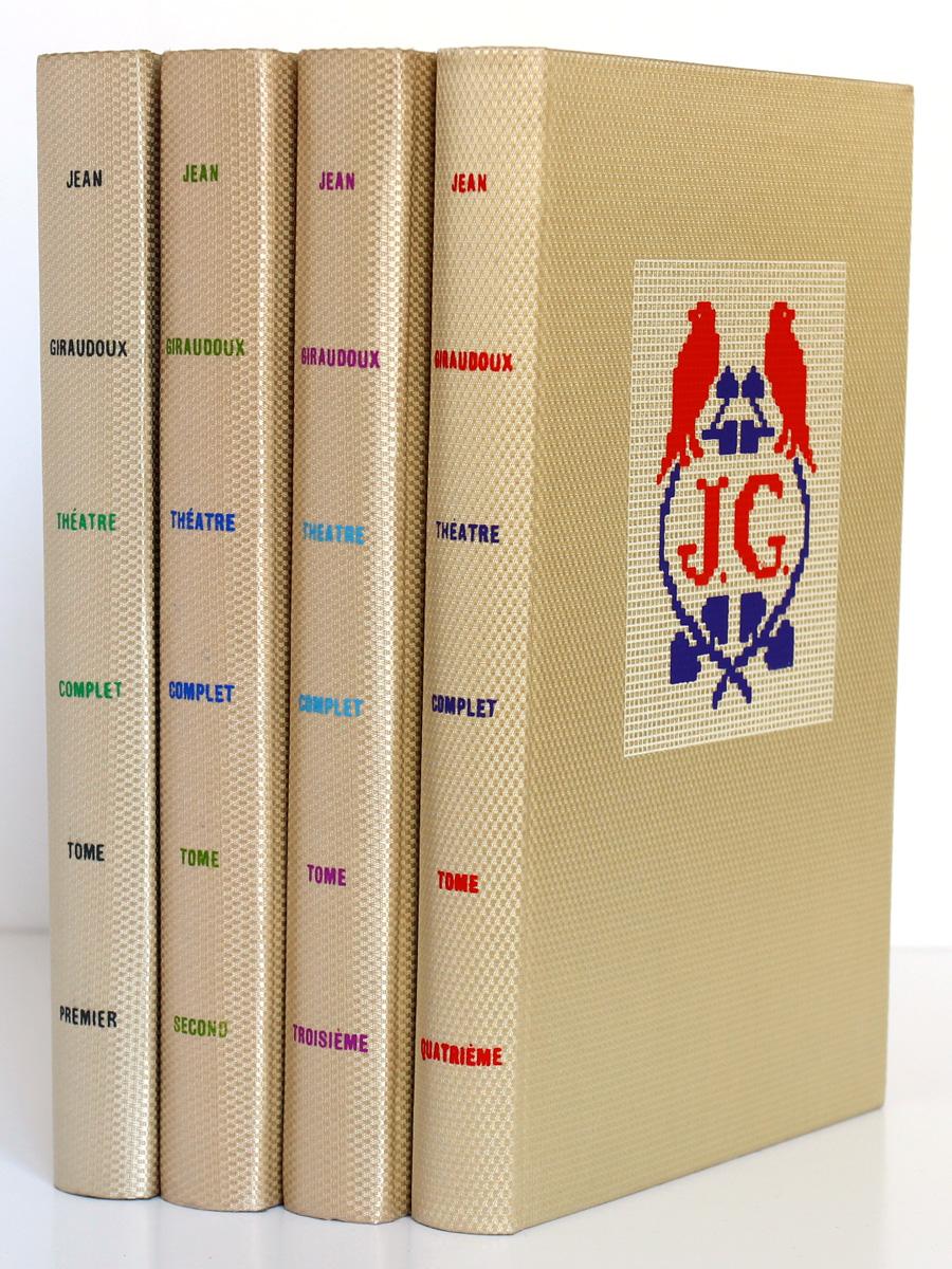 Théâtre. Jean Giraudoux. Le Club français du Livre. 1958-1959. 4 volumes. Dos et plat.