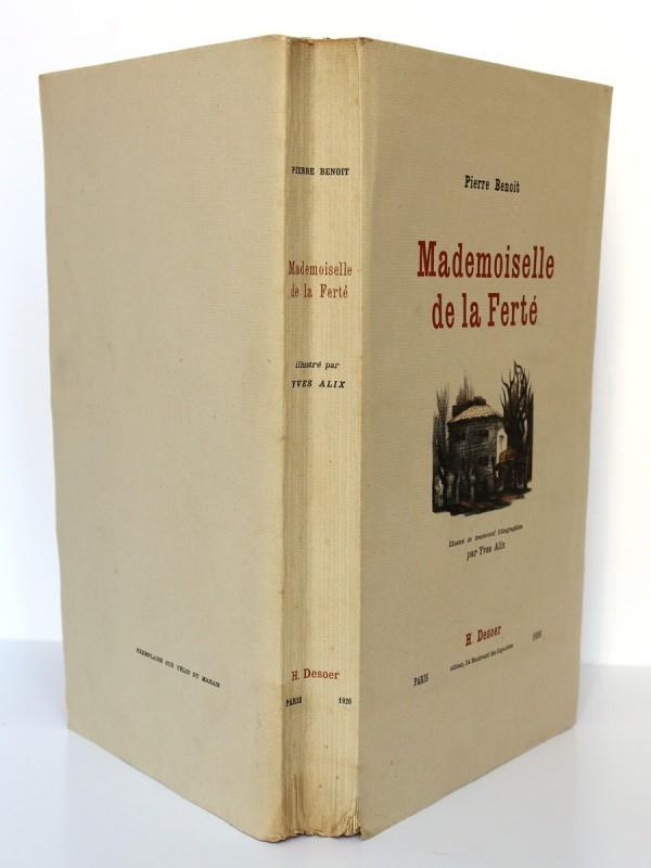 Mademoiselle de la Ferté. Pierre Benoit. H. Desoer. 1926. Couverture et dos.