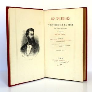 Les Naufragés ou Vingt mois sur un récif des îles Auckland. Hachette 1882. Frontispice et page titre.