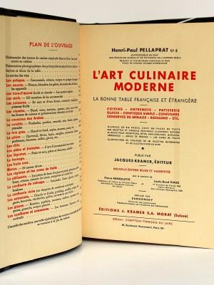 L'art culinaire moderne. Pellaprat. Kramer. 1957. Page titre.