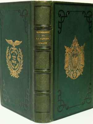La Nature humaine. Jean-Félix Nourrisson. Librairie académique Didier & Cie. 1865. Reliure aux armes.
