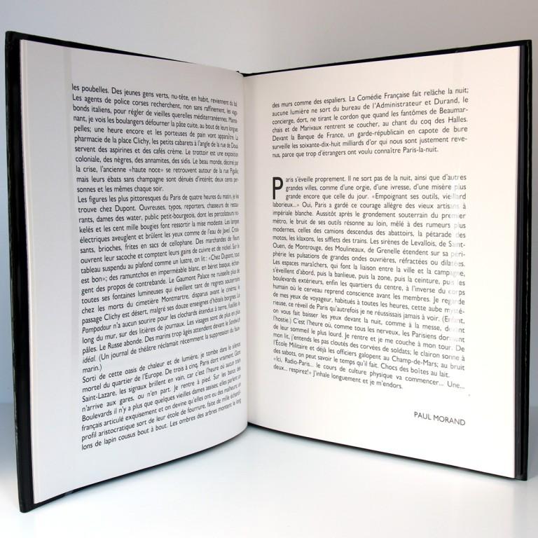 Paris de nuit, Brassaï. Texte de Paul Morand. Arts et Métiers Graphiques, 1990. Pages intérieures 1.