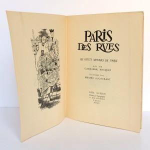 Paris des rues Les petits métiers de Paris. C.-H. Rocquet, illustrations Bernard Ducourant. Éditions Paul Guerin 1954. Page titre.