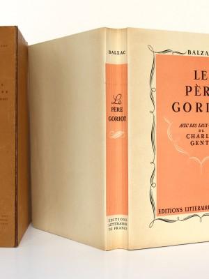 Le Père Goriot. Balzac. Eaux-fortes de Charles Genty. Éditions Littéraires de France 1946. Couverture, chemise et étui.