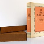 Le Père Goriot. Balzac. Eaux-fortes de Charles Genty. Éditions Littéraires de France 1946. Plat 1 et dos, chemise et étui.