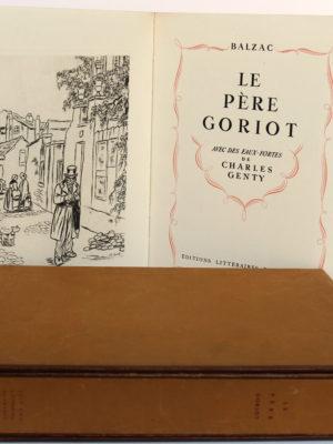 Le Père Goriot. Balzac. Eaux-fortes de Charles Genty. Éditions Littéraires de France 1946. Page titre.