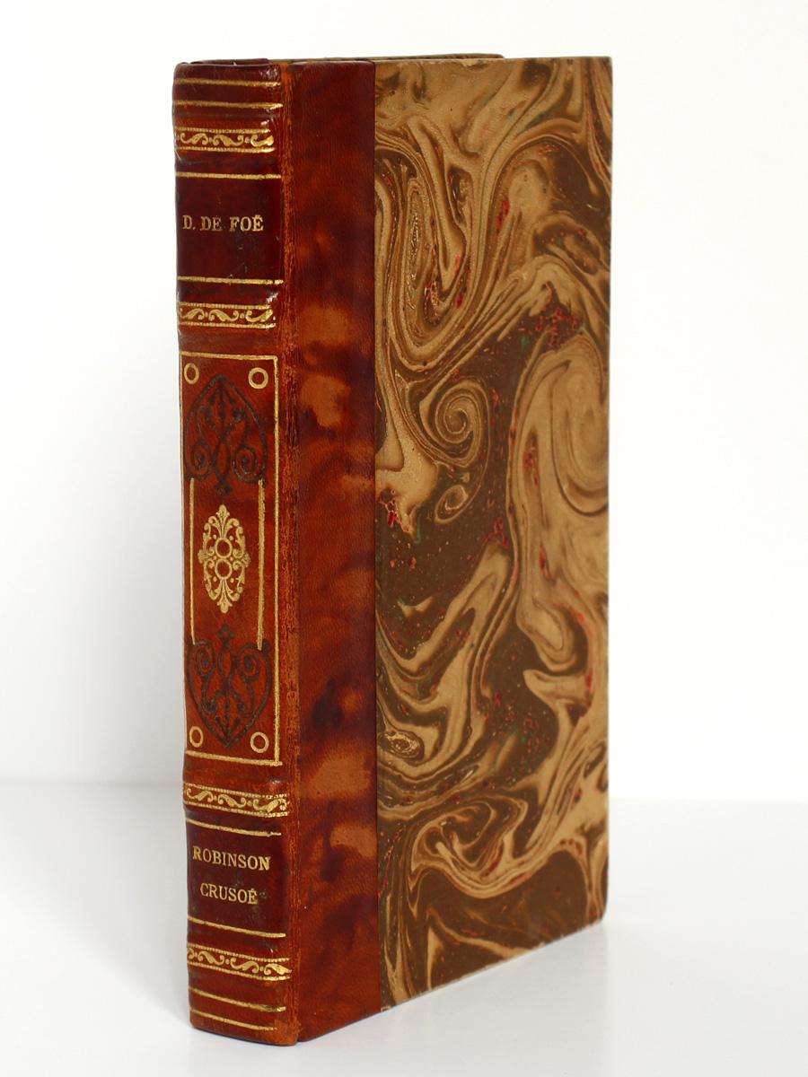 Robinson Crusoé, Daniel Defoe. Illustrations Grandville. Librairie Garnier Frères sans date. Reliure.