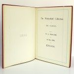 The Wetherfield Collection of 222 Clocks sold by W. E. Hurcomb on 1st May 1928. Deuxième édition, Hurcomb, 1929. Page titre.