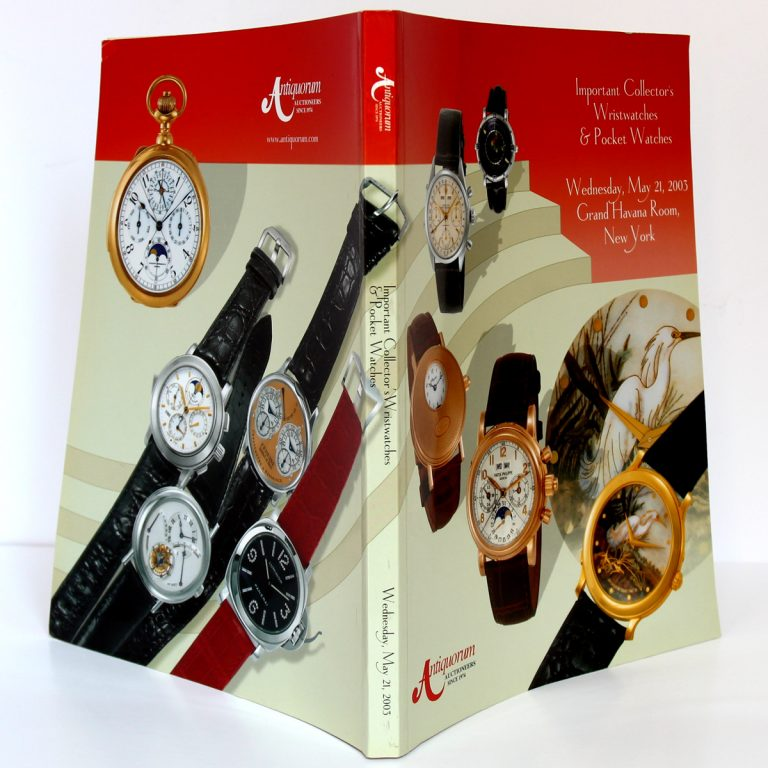 Important Collector's Wristwatches & Pocket Watches. Wednesday, May 21, 2003 Grand Havana Room New York. Couverture : plats et dos.