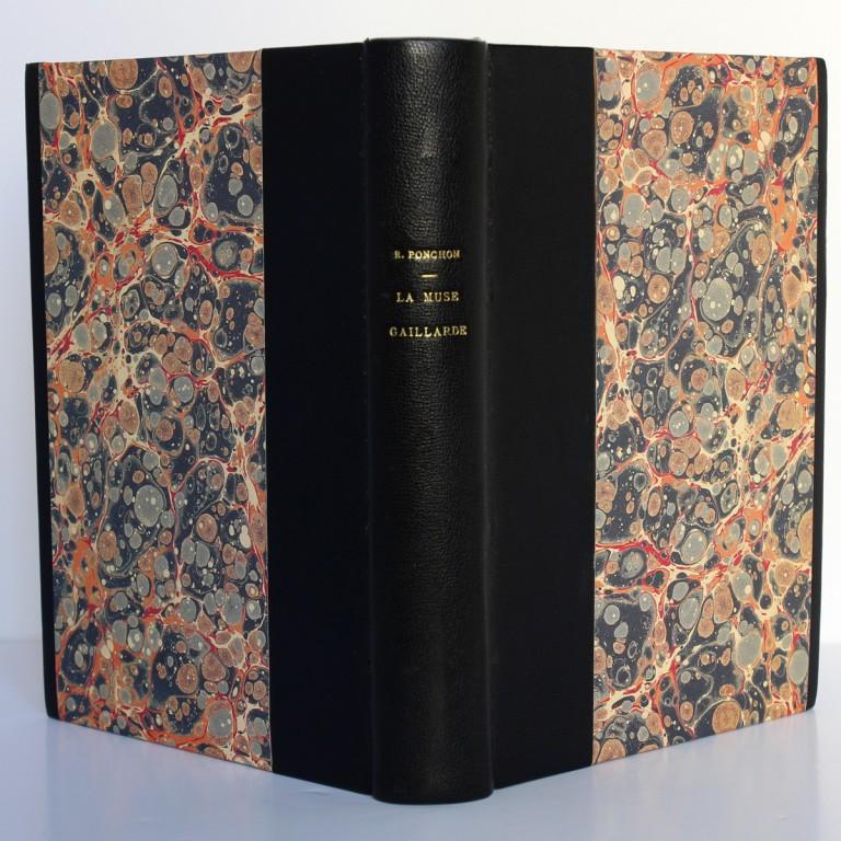 La Muse gaillarde, Raoul Ponchon. Illustrations de Dignimont. Aux Éditions Rieder, 1939. Reliure : dos et plats.