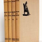 Romans et contes de Voltaire, bois gravés de Enrique Marin. Nouvelle Librairie de France 1965-1966. Couverture et dos.