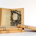 Romans et contes de Voltaire, bois gravés de Enrique Marin. Nouvelle Librairie de France 1965-1966. Page titre et frontispice Tome troisième.