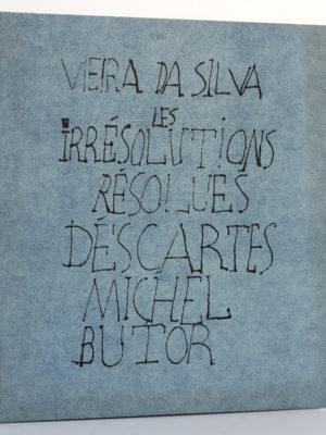 Vieira da Silva : les Irrésolutions résolues. Descartes. Michel Butor. Éditions Jeanne Bucher 1969. Couverture.