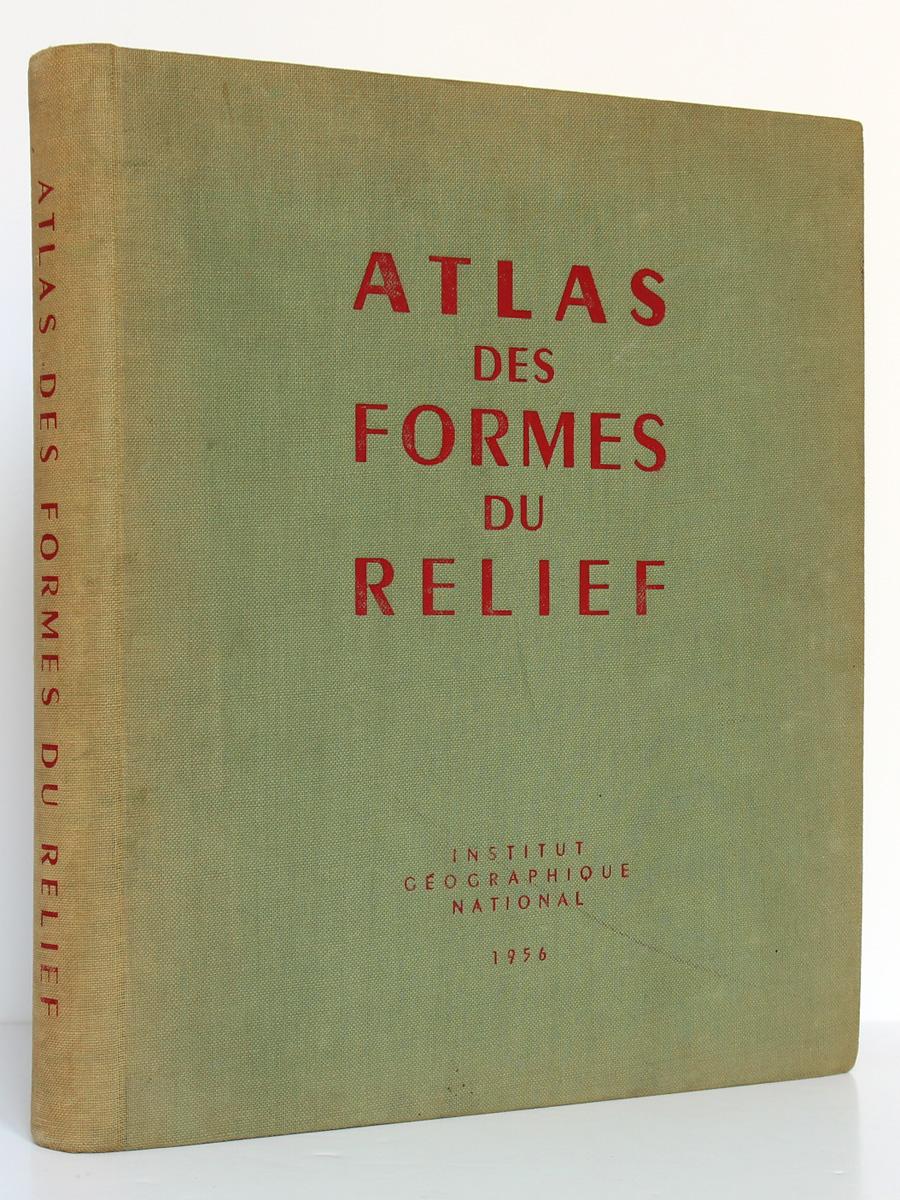 Atlas des formes du relief. Institut Géographique National 1956. Couverture.