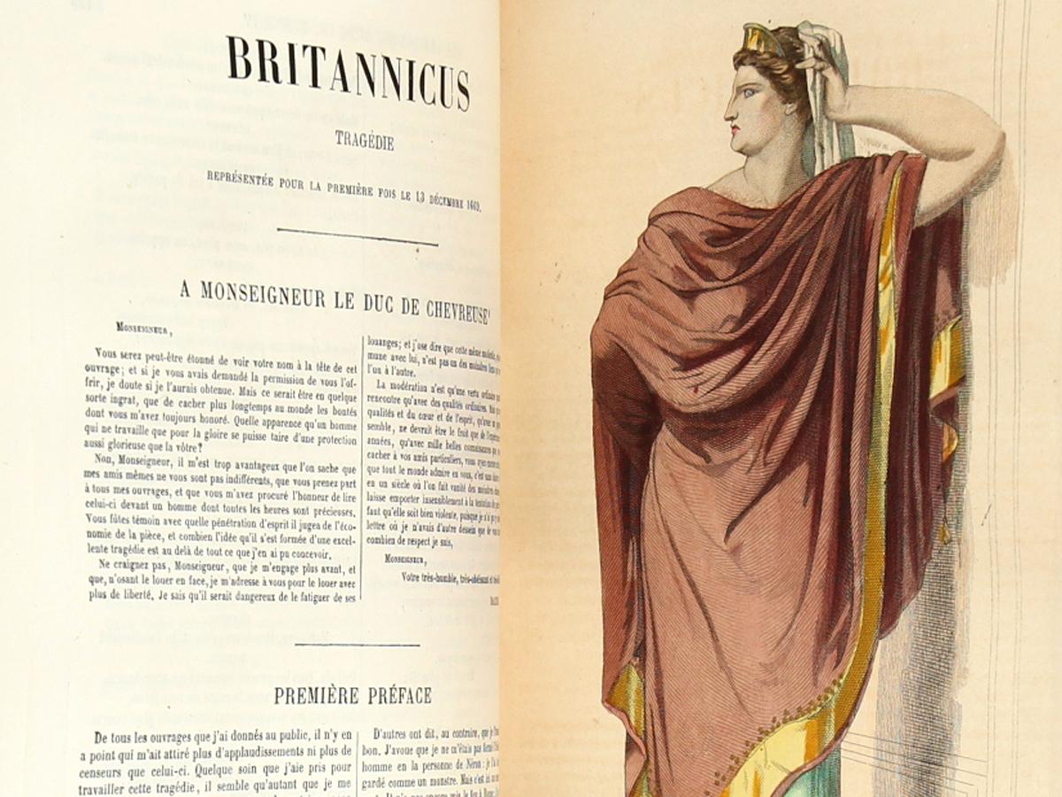Œuvres de Racine. Laplace, Sanchez et Cie Éditeurs 1882. Pages intérieures : Britannicus.
