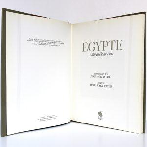 Égypte Vallée du Fleuve Dieu Cérès Wissa Wassef Photographies de Jean-Marc DUROU. AGEP 1987. Page titre.