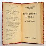 Forces spirituelles de l'Orient. Claude Farrère. Flammarion 1937. Page titre.