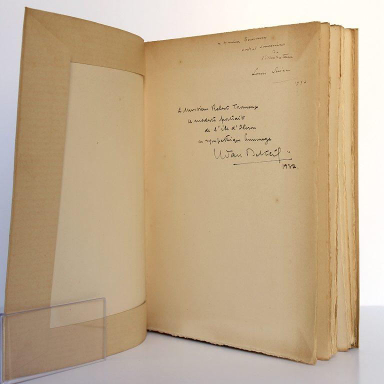 L'Île d'Oléron Dernière escale de Pierre Loti. Yvan DELTEIL. Illustrations de Louis SUIRE. À la Rose des Vents 1935. Double envoi.