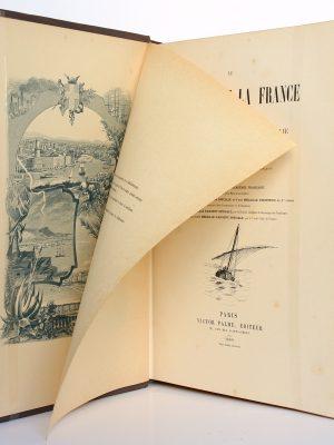 Le littoral de la France. De Marseille à la frontière d'Italie. V. VATTIER D'AMBROYSE. Victor Palmé Éditeur 1889. Frontispice et page titre.