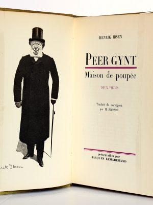 Peer Gynt - Maison de poupée. Henrik Ibsen. Le Livre Club du Libraire 1958. Frontispice et page-titre.