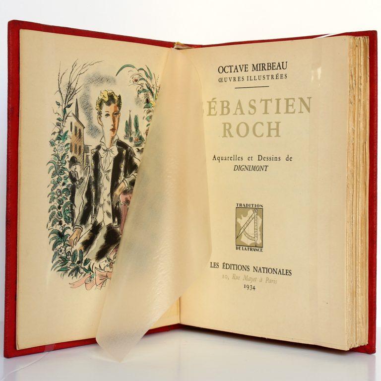 Sébastien Roch Octave Mirbeau. Illustrations de Dignimont. Les Éditions Nationales 1934. Frontispice et page titre.