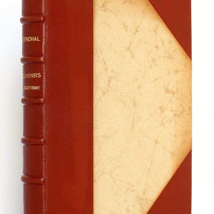 Souvenirs d'égotisme. Stendhal. Éditions Richelieu / Imprimerie nationale 1954. Reliure.