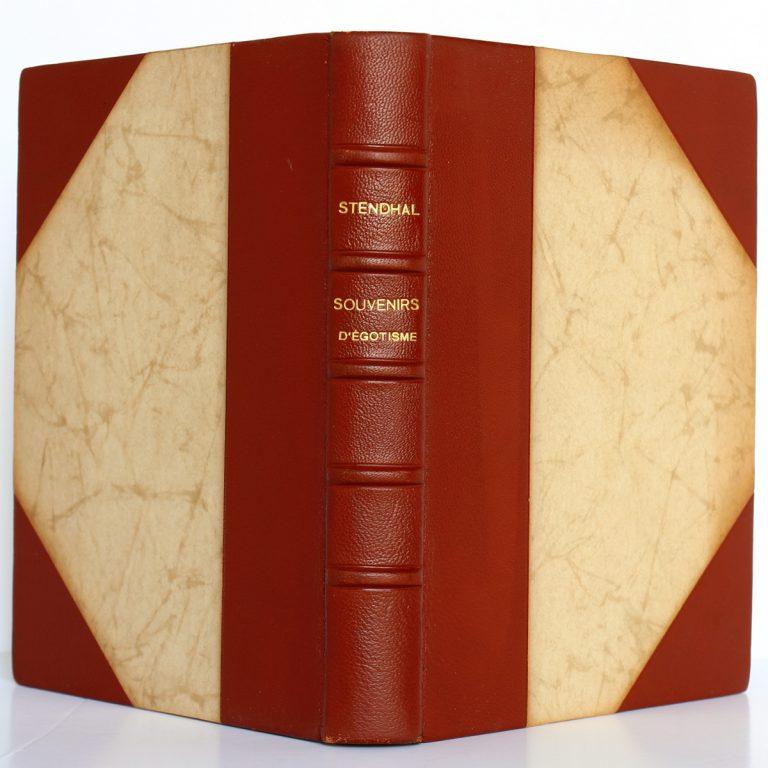 Souvenirs d'égotisme. Stendhal. Éditions Richelieu / Imprimerie nationale 1954. Reliure : dos et plats.