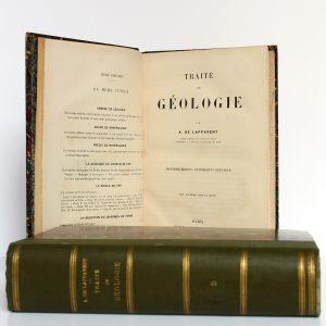 Traité de géologie, A. de Lapparent. 3e édition. Librairie F. Savy, 1893. Page titre volume 1.