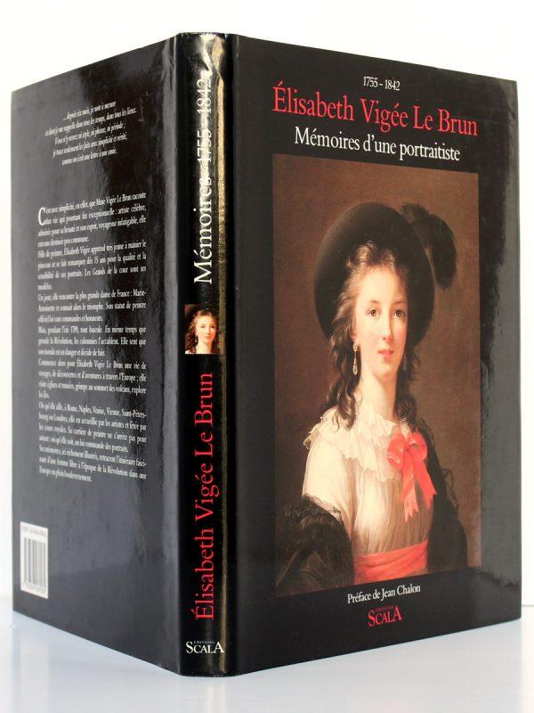 Mémoires d'une portraitiste 1755-1842. Élisabeth Vigée-Lebrun. Scala 1989. Couverture : dos et plats.