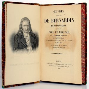 Œuvres choisies, Bernardin de Saint-Pierre. Firmin-Didot, 1886. Frontispice et page titre.
