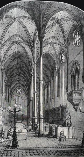 La bibliothèque des Arts et Métiers, à Paris, vers 1880.