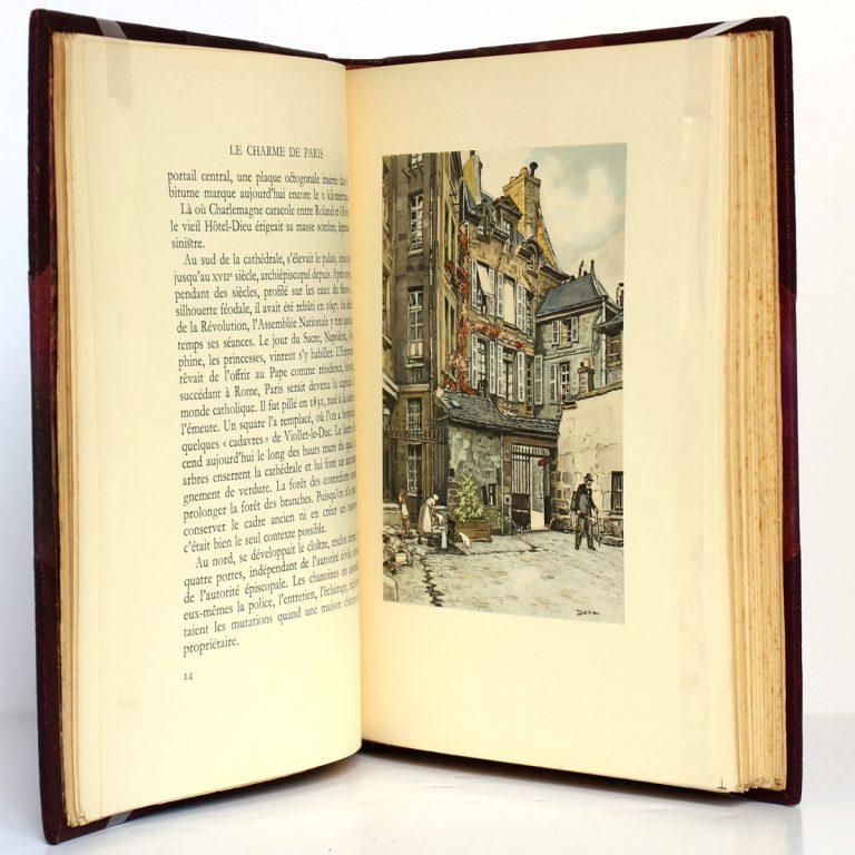 Le Charme de Paris Églises et vieux logis, Léon Gosset. L'Édition d'Art H. Piazza, 1934. Pages intérieures.