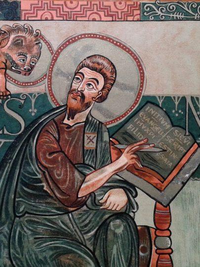 Évangéliaire de Charlemagne, détail.