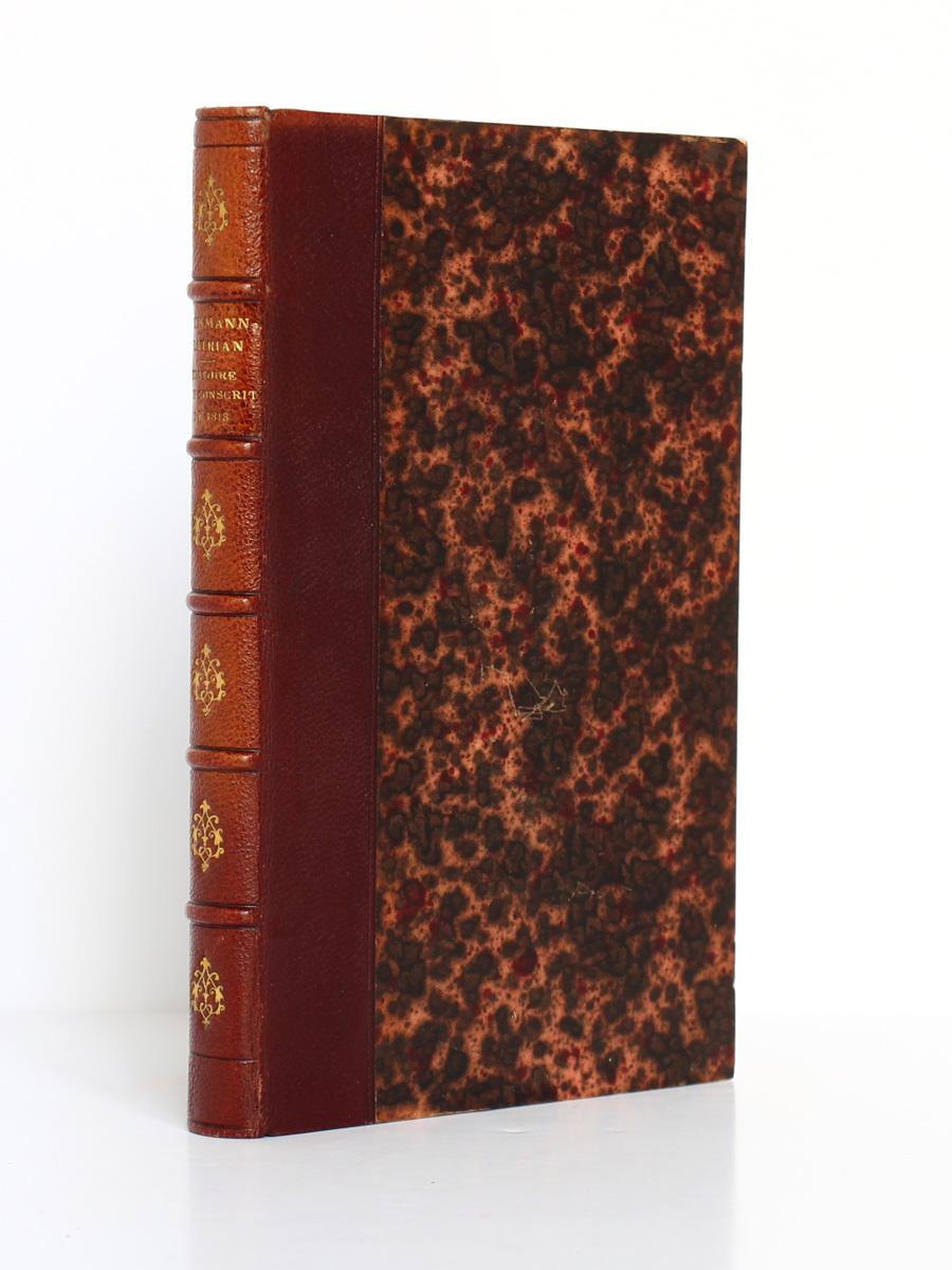 Histoire d'un conscrit de 1813, Erckmann-Chatrian. Hetzel, sans date. Reliure.