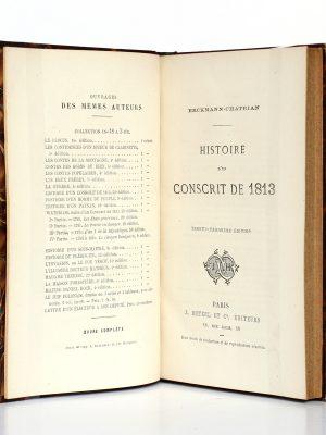 Histoire d'un conscrit de 1813, Erckmann-Chatrian. Hetzel, sans date. Page titre.