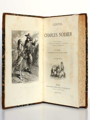 Contes, Charles Nodier. Hetzel sans date. Frontispice et page titre.